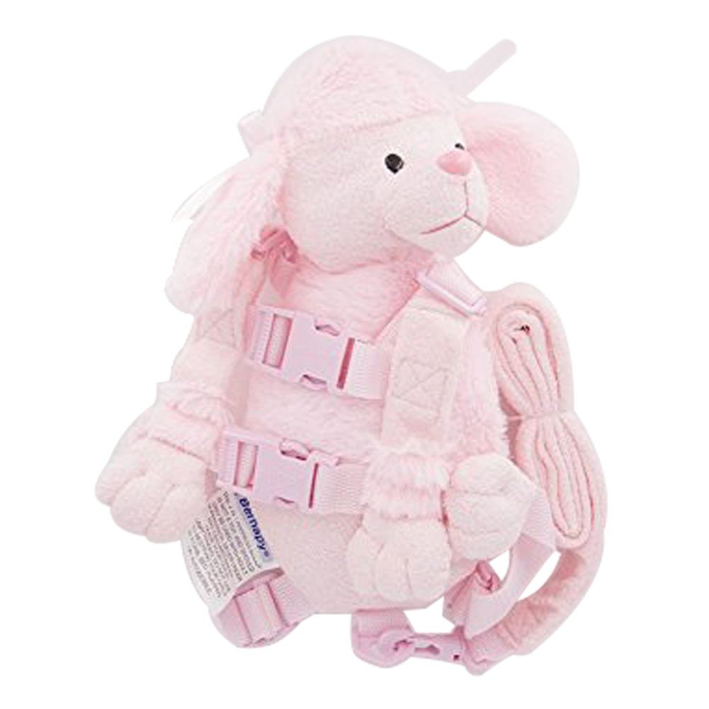 Berhapy 2 in 1 Monkey Toddler Safety Harness Pocket Children's Walking Leash Strap (Pink Dog)