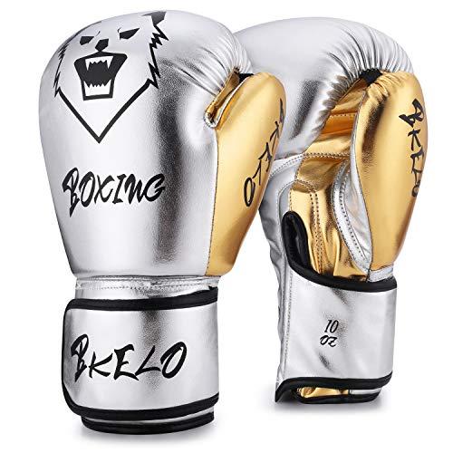 Boxing Gloves, Training Fight Gloves Kickboxing Gel Sparring Gloves, Muay Thai Style Punching Heavy Bag Mitts Pro Grade for Men...