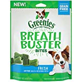 DISCONTINUED BY MANUFACTURER:GREENIES BREATH BUSTER BITES Treats for Dogs Fresh Flavor, 5.5 oz. Bag