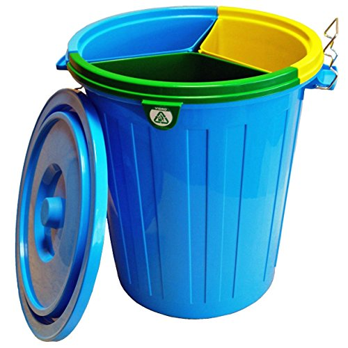 Fapil 10798 - Cubo para reciclaje con 3 cubos interiores, 50