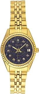 Fifth Avenue Faux Lapis Dial Gold-Tone Bracelet Women's Watch
