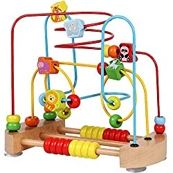 in budget affordable ToyerBee Pearl Labyrinth, wooden toys with animal images, educational toys with pearls, …