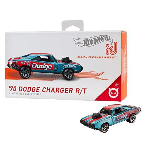 Hot Wheels- ID Die-Cast Dodge Charger 70, Scala 1:64, Macchinina Giocattolo per Bambini 8 + Anni, FXB03