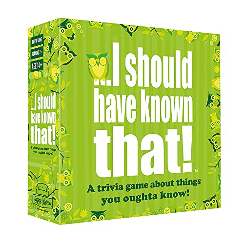 I should have known that. 21026' About Things You Oughta Know. Trivia Card Game