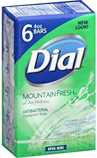 Dial Mountain Fresh Antibacterial Deodorant Soap, 4 oz, 6 count