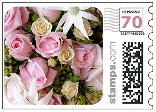 Wedding Roses Stamps - Sheet of 20 - First Class Two Ounce Stamps