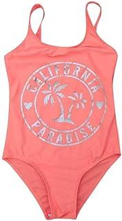 BañAdor De Una Pieza para NiñA Traje De BañO Casual Transpirable De ProteccióN Solar De Playa Bikini Regalo De Verano