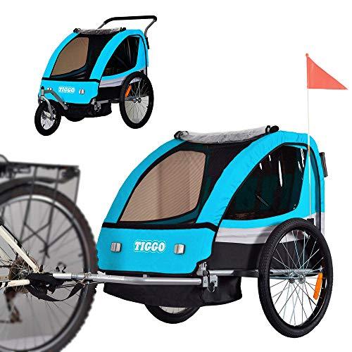 Remolque de bici para niños con kit de footing BT504-D03 azul
