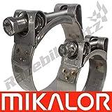 Mikalor Supra W5 Acero Inoxidable 316 Petrochemical Abrazadera de Tubo T Tornillo Resistente - 51-55mm