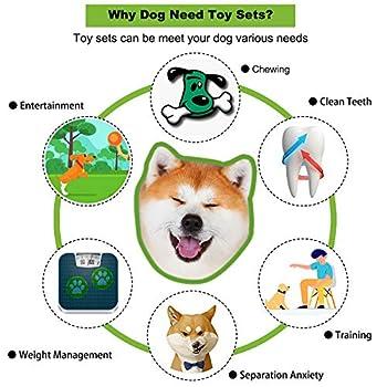 ACE2ACE jouet chien corde, jouet chiot pour les dent, corde de boule de coton naturel pour mâcher des dents de chiot, 6PCS jouets interactifs pour de petits chiens