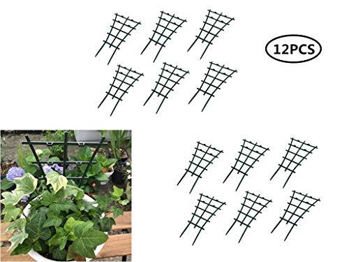 12 Stück Kunststoff gewölbte DIY Pflanzenunterstützung Garten Kletterpflanzen Rankhilfe Blumen Stütze für Anbau von Tomaten Pflanzen und Anderen Kletterpflanzen Obst Gemüse
