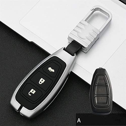 Hcxh-A Cubierta de aleación galvanizada para Ford Fiesta Focus 3 4 Mondeo ECOSPORT KUGA Focus ST Cote Key Cuchillos DE Caja DE Coche REMOTOS REMOTOS Cubiertas (Color Name : A Sliver)