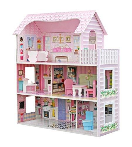 Star- Casa de Muñecas con Familia y Mobiliario, Multicolor