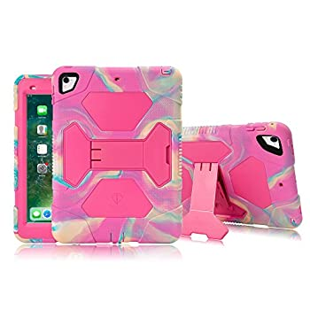 iPad Pro 10.5 Case iPad Air 10.5 Case  3rd Generation  with Adjustable Kickstand Hybrid Three Layer Heavy Duty Kids Case with Shockproof for New Apple iPad Air 3  2019   Pink Camo/Rose