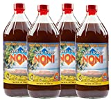 TAHITI TRADER Original High Potency Noni 32 oz (4 Pack) - Pure Noni Juice - Noni Tahiti Juice - Juice Noni - Tahiti Juice - Noni Fruit Juice - Pure Noni Juice with Blueberry and Raspberry Juice