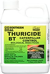 Size: 16 OZ Thuricide BT Caterpillar Control concentrate is used by organic gardeners and is made from bacteria that is toxic to listed pests. Safe to use on all plants, vegetables and edible crops. Very low toxicity to humans and pets. For large qua...