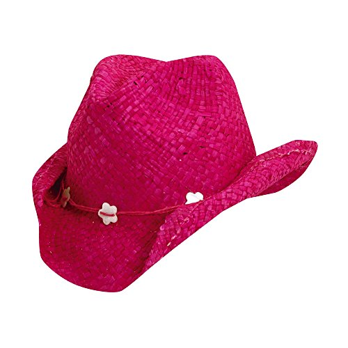 UV cowgirl hat for Kids from Scala - Fuchsia