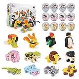 ブロック おもちゃ 動物ブロック 立体パズル キッズ 男の子 女の子 子供用 知育 玩具 人気 クリスマス パーティーグッズ 誕生日プレゼント子供 景品 こども くじ引き 入園 ギフト 贈り物 お祝い 積み木 人気 (12個セット)