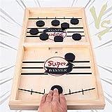 Juego de Mesa de Hockey,Juegos de Tablero de Catapulta,Fast Sling Puck Juego,Hockey de Madera,Juego...
