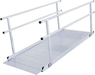 Silver Spring Aluminum Wheelchair Access Ramp with Handrails - 4' L