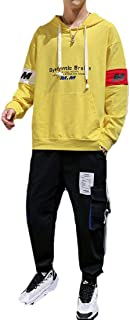 WUFAN Men's Combat Trouser Long-Sleeve Two Piece Pocket Tracksuit Outfit