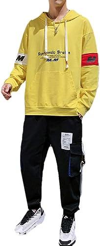 CuteRose Pour des hommes encapuchonné Sweatshirt Athletic Cotton Big & Tall Tracksuit Outfit