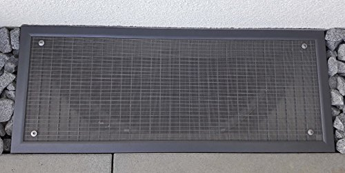 Waldenmaier Lichtschachtabdeckung/Kellerschachtabdeckung mit Bürstendichtungen – Auf Maß gefertigt – Einfache Montage – LA/2 (Bis 110cm X 50cm, Grau pulverbeschichtet mit Glimmereffekt)