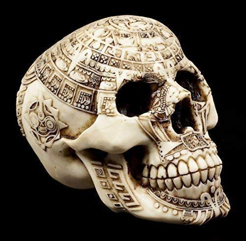 Totenkopf - Azteken Schädel - Deko Figur Maya