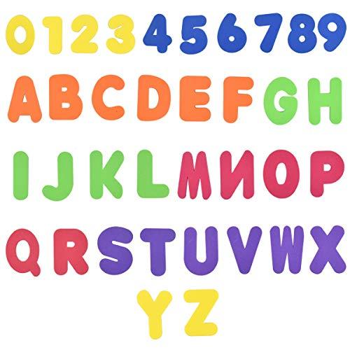 NATUCE 36 Stück Learn Bade Buchstaben und Zahlen (A-Z, 0-9) Badespielzeug, Baby Badespielzeug, Badewannenspielzeug, Bade Buchstaben Zahlen Schaum für Kinder & Babys, Baby Badewanne Geschenke