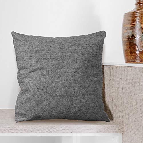 BCASE Funda Cojin Lino 45x45 cm, Funda Cojin Decorativa, Cómoda y Moderna para Habitación, Sofá, Cama etc Color Gris Oscuro