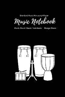 Music Notebook - Standard Music Manuscript Paper Bongo Drum: Music Writing Notebook For Kids | Blank Sheet Music Notebook ...
