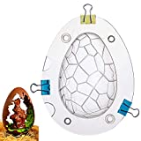 Easter Egg Mold Large Size 3D Dinosaur Egg Chocolate Mold Giant Ostrich Egg Chocolate Cake Fondant Mold Baking Sugar Craft Decorating Mold Tool Soap Shape Jelly Candy Muffin Mould Pack Bomb