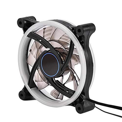 Wendry 120 mm computerventilator, instelbare RGB-LED-licht-PC-ventilator, hoge luchtstroom, stille koeler, werkt alleen met RGB-controller