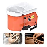 SKYTOU Pottery Wheel Pottery Forming Machine 25CM 350W Electric Pottery Wheel with Foot Pedal DIY Clay Tool...