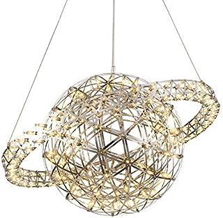 Modern Sparks Ball Pendant Light,Nordic Ring LED Ceiling Light Stainless Steel Hanging Lamp Chrome Finish Light Fixture fo...