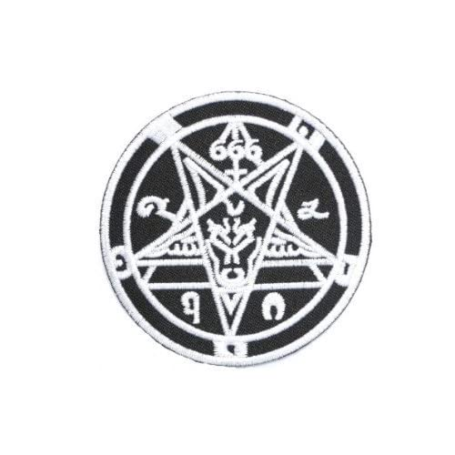 Rider Biker Iron on Embroidery Cloth Patch Sew on Badge Pentagram Satanic Star