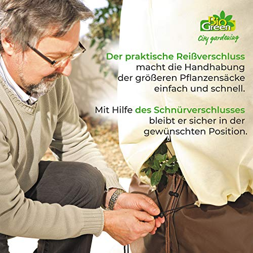 Bio Green Winterschutz Kübelpflanzensack, beige, super Stark , XXL 240 x 200 cm - 6