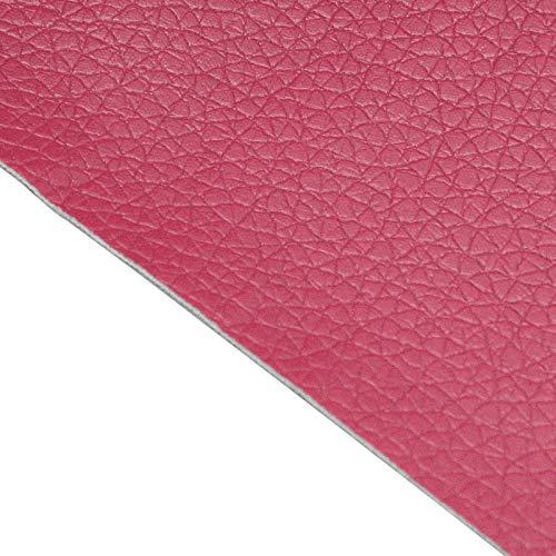 BENECREAT Parche adhesivo para reparación de piel de 60 x 30 cm para muebles, sofás, asientos de coche (rojo vino, 0,8 mm de grosor)
