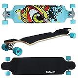 LD &apos Navidad decoración 41Longboard Drop Through Longboard Skateboard Street Surfer 104cm Abec 9