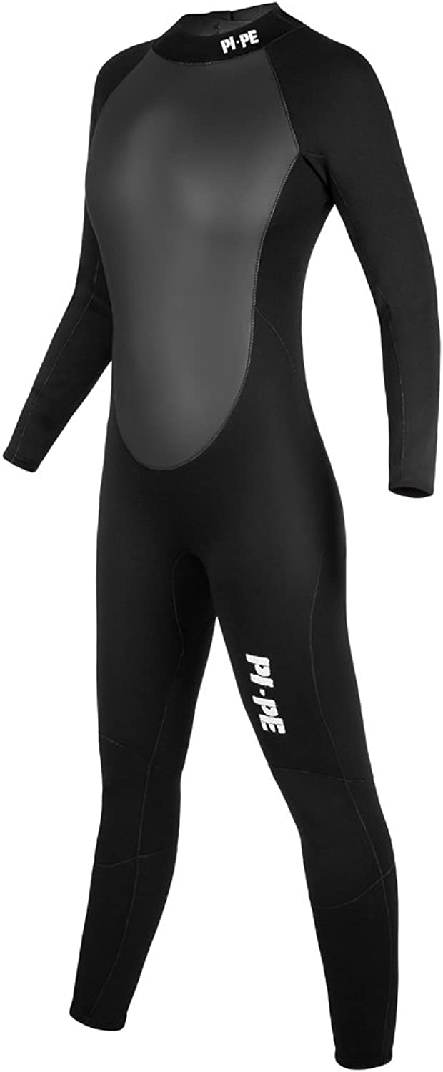 PIPE Pro Full L S Women's Long Wetsuit  3mm Sharkskin Body w Extra Pads  Warm Long Sleeve Wetsuit for Watersport, Snorkeling, Diving, Surfing  Super Stretchy Comfortable