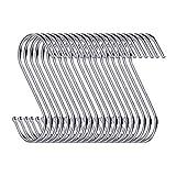 swatowot 30 Pack S-Form Haken zum Aufhängen 9 cm Kleiderbügel für Küche, Bad, Schlafzimmer und...
