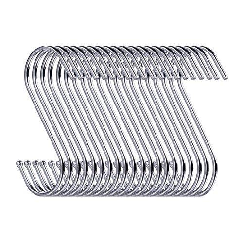 Swatowot 30 Pack S-Form Haken zum Aufhängen 9 cm Kleiderbügel für Küche, Bad, Schlafzimmer und Büro