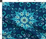 Mandala, Blumen, Bohemien, Boho, Blau, Türkis, Petrol