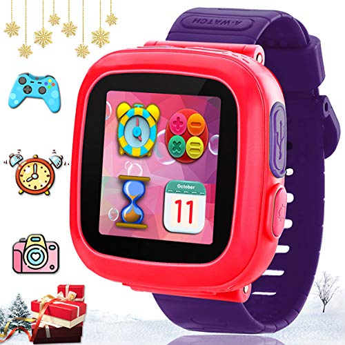 TURNMEON Kids Game Smart Watch-Smartwatch for Kids Boys Girls Toddlers Holiday Toys Birthday Gifts Digital Wrist Watch with Games Pedometer Camera Alarm Clock Electronic Learning Toys - Purple
