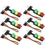 ZHITING 6 Stück 5V Mini-Ampel-LED-Anzeigemodul Rot...