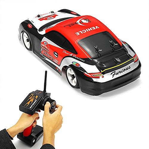 KGUANG Off-Road Rally RC Mosquito Car 30km / h Boy Racing 4WD Amortiguador Escalada 2.4G Control Remoto Buggy USB1: 12scale Vehículo eléctrico de Juguete para niños Cumpleaños