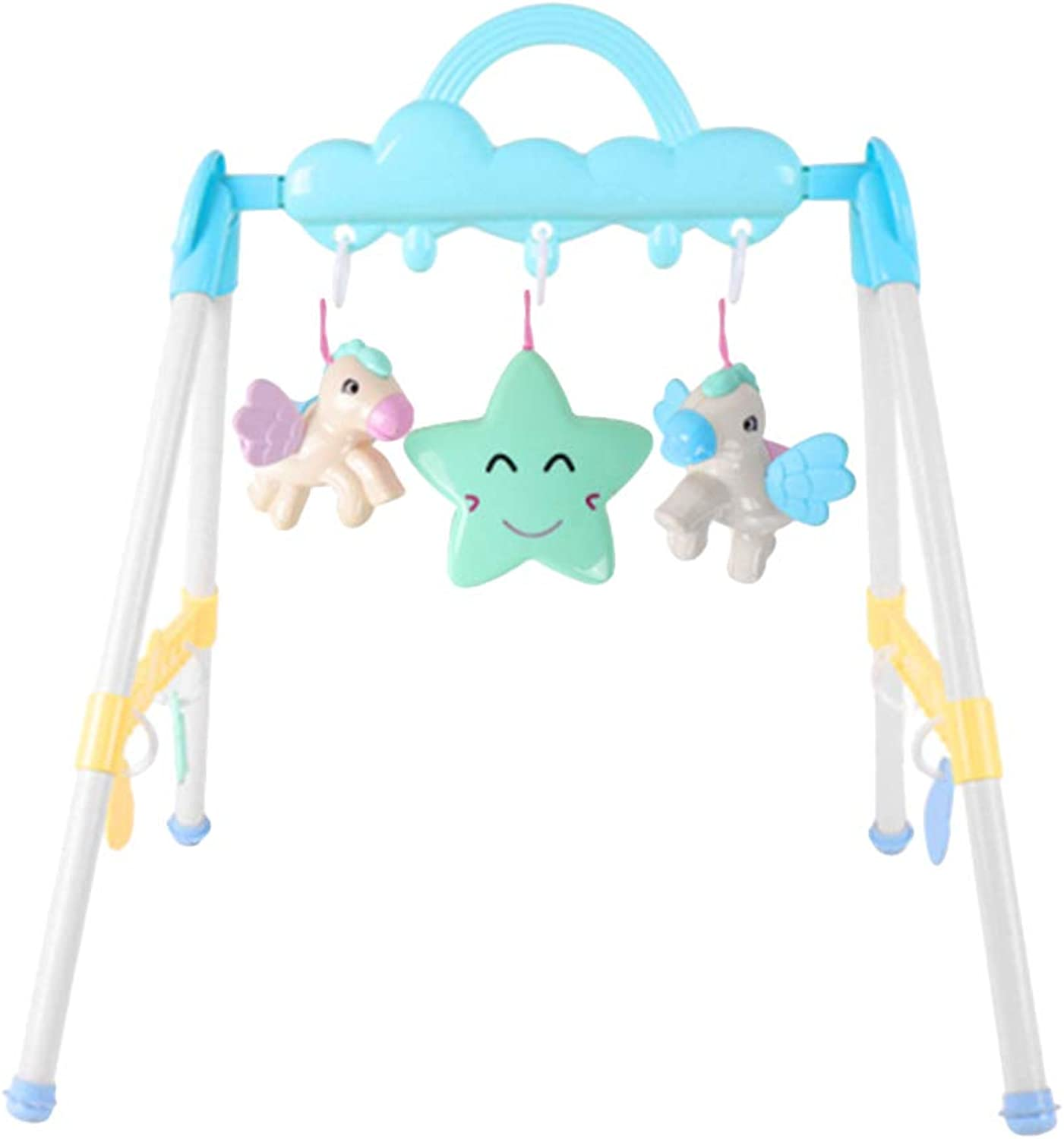 Toyvian Baby Fitness Frame Activity Play Gym Hanging Bell Early Educational Game Toy for Toddlers