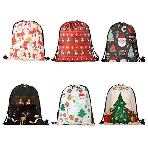 TENDYCOCO Kordelzug rucksäcke weihnachtsgeschenkbeutel aufbewahrungsbeutel für lutscher bonbons Goodies-Random