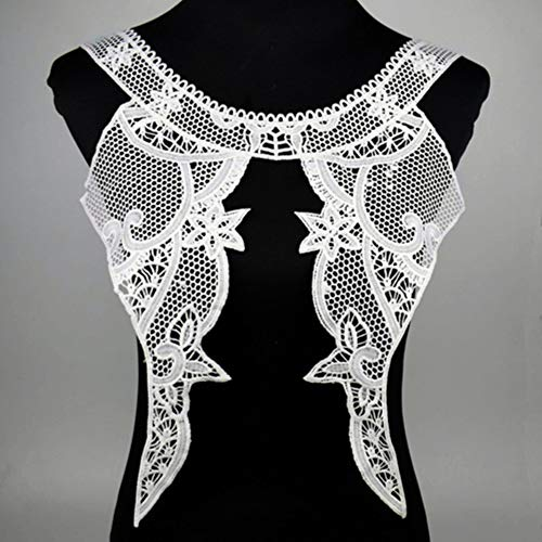 Lace Fabric Trim Sew On Dress Clothing Applique Motif Blouse Sewing emboridery DIY Neckline Collar Costume Decoration,8