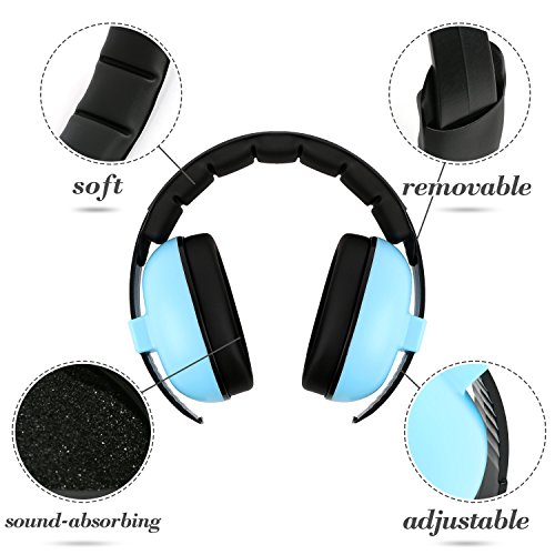 Theater Ear Protection Earmuffs Noise Reduction for 0-3 Years Kids//Toddlers//Infant Baby Noise Cancelling Headphones Airplane for Babies Sleeping Mint Green Firework Movie Concerts